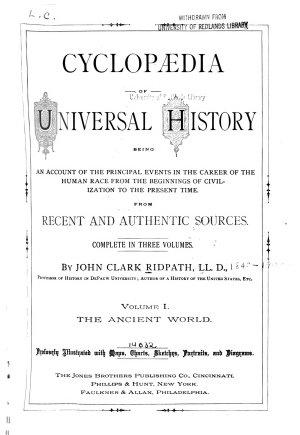 Cyclopaedia of Universal History PDF
