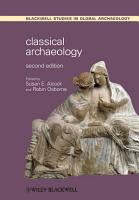 Classical Archaeology PDF