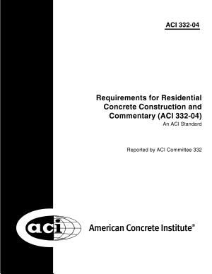 Building Code Requirements for Structural Concrete
