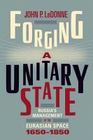 Forging a Unitary State PDF