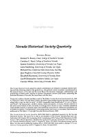 Nevada Historical Society Quarterly PDF