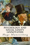 Psychology and Social Sanity  Annotated  PDF