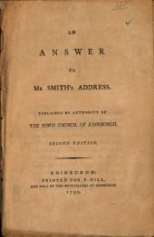 An Answer to Mr. Smith's Address