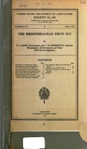 The Mediterranean Fruit Fly