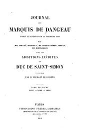Journal du marquis de Dangeau: 1687-1689