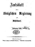 Amtsblatt f  r den Regierungsbezirk D  sseldorf PDF
