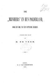 """""""mijnheers"""" en hun polderland"""