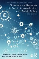 Governance Networks in Public Administration and Public Policy PDF