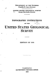 Topographic Instructions of the United States Geological Survey