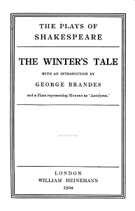 The Plays of Shakespeare  The winter s tale  The tempest PDF
