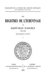 Archives historiques de la Saintonge et de l'Aunis: Volume24