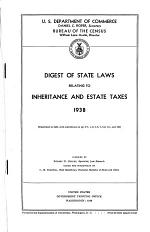 Digest of State Laws Relating to Inheritance and Estate Taxes, 1938