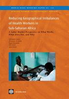 Reducing Geographical Imbalances of Health Workers in Sub Saharan Africa PDF