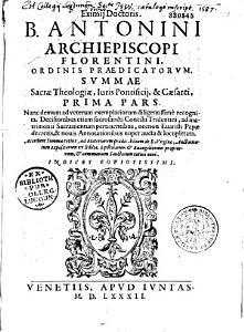 B  Antonini summae sacrae theologiae    PDF