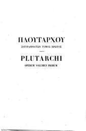 Plutarchi vitae secundum codices parisinos recognont Th. Doemner: graece et latine
