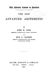 The New Advanced Arithmetic: By John W. Cook and N. Cropsey