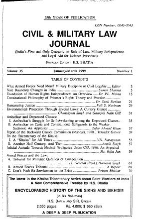 Civil   Military Law Journal PDF