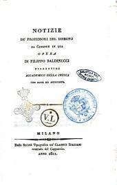 Notizie de' Professori del Disegno da Cimabue in Qua Opera