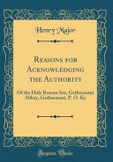 Reasons for Acknowledging the Authority PDF