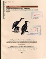 Double crested Cormorant Management PDF