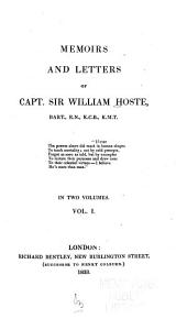 Memoirs and Letters of Capt. Sir William Hoste: Volume 1