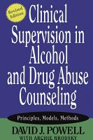 Clinical Supervision in Alcohol and Drug Abuse Counseling PDF