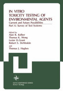 In Vitro Toxicity Testing of Environmental Agents PDF
