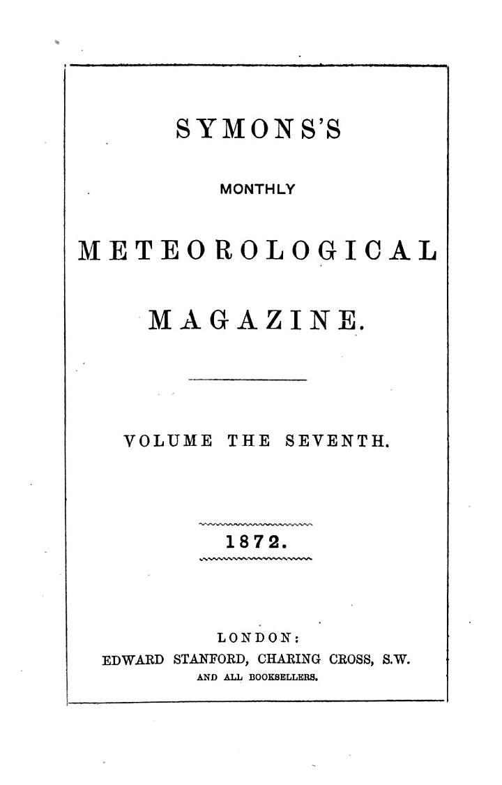 The Meteorological Magazine