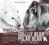 Drawing Grizzly Bear and Polar Bear with Pencil