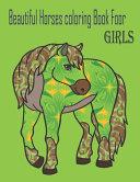 Beautiful Horses Coloring Book Foor Girls