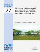 Simulating the hydrology of small coastal ecosystems in conditions of limited data PDF
