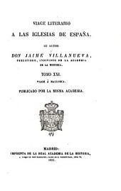 Viage literario á las iglesias de España: Solsona. Ager y Urgel. 1821