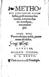 Methodvs Concordiae Ecclesiastic[a]e