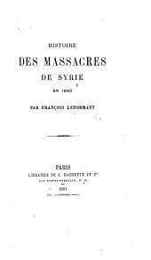 Histoire des massacres de Syrie en 1860