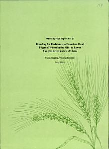 Breeding for resistance to Fusarium head blight of wheat in the mid  to lower Yangtze River Valley of China PDF