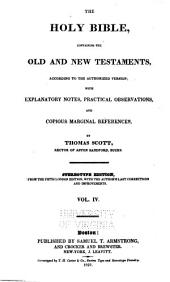 The Holy Bible, containing the Old and New Testaments: according to the authorized version, Volume 4