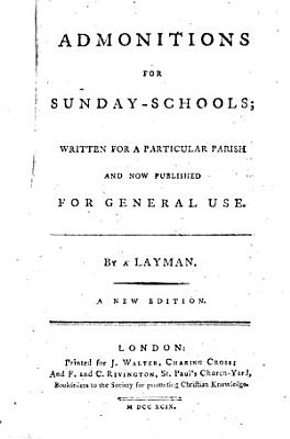 Admonitions for Sunday schools