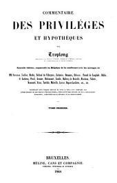 Commentaire des privilèges et hypothèques: Volume1