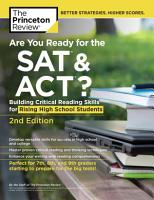 Are You Ready for the SAT and ACT   2nd Edition PDF