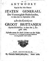 Antwoort van de ... Staten Generael der Vereenighde Nederlanden, ..