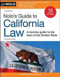 Nolo S Guide To California Law Book PDF