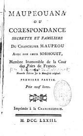 Maupeouana ou Corespondance par Pidansat de Mairobert
