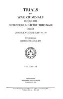 Trials of War Criminals Before the Nuernberg Military Tribunals Under Control Council Law No  10  Nuremberg  October 1946 April  1949  Case 5  U S  v  Flick  Flick case  PDF