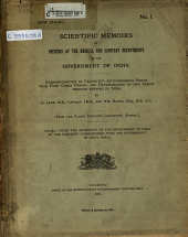 Scientific Memoirs by Officers of the Medical and Sanitary Departments of the Government of India. ...
