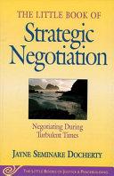 Little Book of Strategic Negotiation PDF