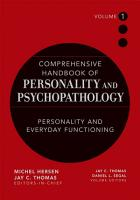 Comprehensive Handbook of Personality and Psychopathology   Personality and Everyday Functioning PDF