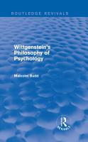 Wittgenstein s Philosophy of Psychology  Routledge Revivals  PDF