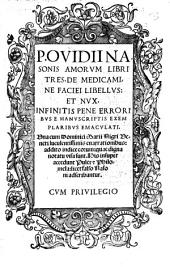 Amorum libri tres, de Medicamine Faciei Libellus et Nux