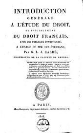 Introduction générale à l'Etude du droit et spécialement du droit français