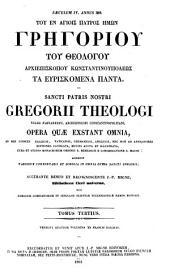 Patrologiae cursus completus. Series graeca: Volume 37, Issue 3